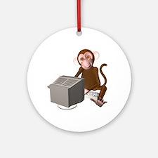 Code Monkey 3 Ornament (Round)