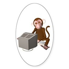Code Monkey 3 Oval Decal