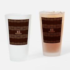 XC Runner brown Drinking Glass