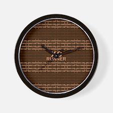 XC Runner brown Wall Clock