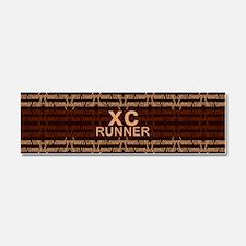 XC Runner brown Car Magnet 10 x 3
