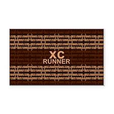 XC Runner brown Rectangle Car Magnet