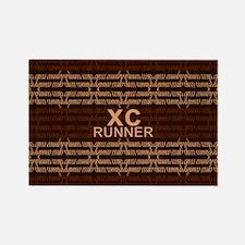 XC Runner brown Rectangle Magnet