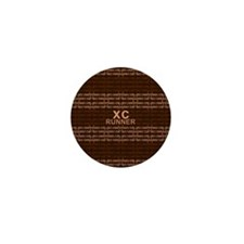 XC Runner brown Mini Button (10 pack)