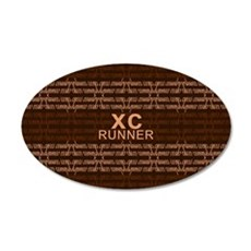 XC Runner brown Wall Decal