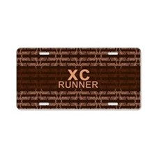 XC Runner brown Aluminum License Plate