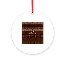 XC Runner brown Ornament (Round)