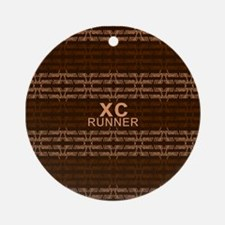 XC Runner brown Ornament (Round)