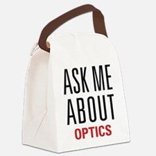 Optics - Ask Me About - Canvas Lunch Bag