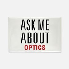 Optics - Ask Me About - Rectangle Magnet