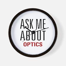 Optics - Ask Me About - Wall Clock