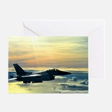 Cute Fighter jet Greeting Card