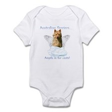 Australian Terrier Angel Infant Bodysuit