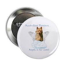 Australian Terrier Angel Button