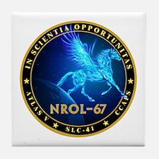 NROL-67 Program Team Tile Coaster