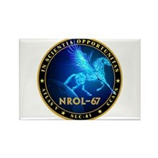 NROL-67 Program Team Rectangle Magnet