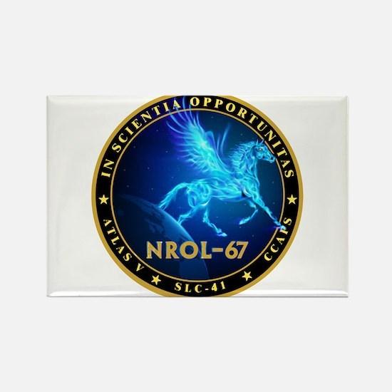 NROL-67 Program Team Rectangle Magnet