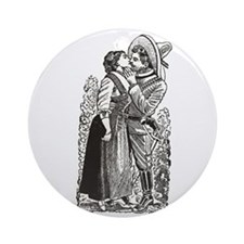 Last Kiss - Posada Woodcut Ornament (Round)