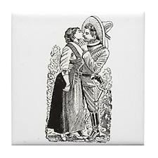Last Kiss - Posada Woodcut Tile Coaster