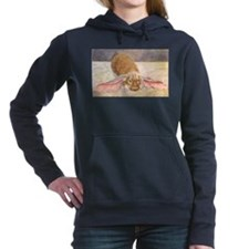 Lop Eared Bunny Women's Hooded Sweatshirt