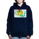 Kitty Mermaid Women's Hooded Sweatshirt