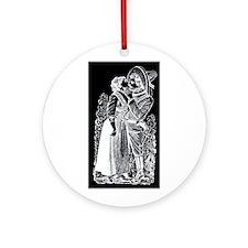 Romantic Kiss - Posada Woodcu Ornament (Round)