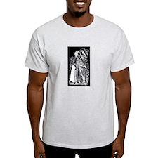 Romantic Kiss - Posada Woodcu T-Shirt