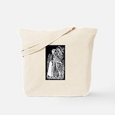 Romantic Kiss - Posada Woodcu Tote Bag