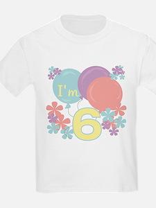 6th Pastel Birthday Kids T-Shirt
