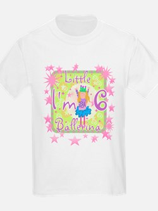 Little Ballerina 6th Birthday Kids T-Shirt