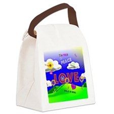 Peace and Love, The 1960s Canvas Lunch Bag
