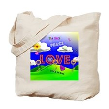 Peace and Love, The 1960s Tote Bag