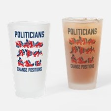 Politicians Change Positions Drinking Glass