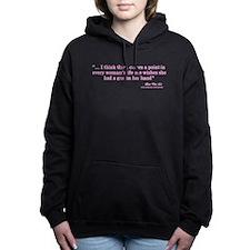 A Woman and Her Gun Women's Hooded Sweatshirt
