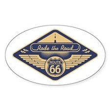 Rode the Road Oval Decal