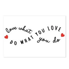 Do what you love Postcards (Package of 8)