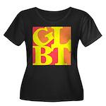 GLBT Hot Pop Women's Plus Size Scoop Neck Dark T-S