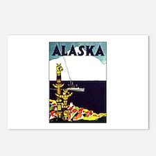 Vintage Alaska Travel Ad Postcards (Package of 8)