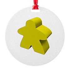 Yellow Meeple Ornament