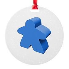 Blue Meeple Ornament