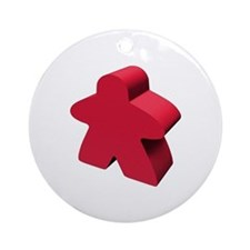 Red Meeple Ornament (Round)