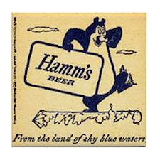 Hamm's Beer Tile Coaster