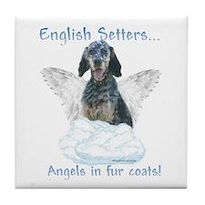 English Setter Angel Tile Coaster