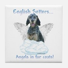 English Setter Angel Tile Coaster