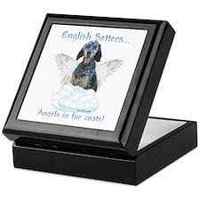 English Setter Angel Keepsake Box