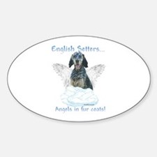 English Setter Angel Oval Decal
