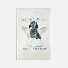 English Setter Angel Rectangle Magnet