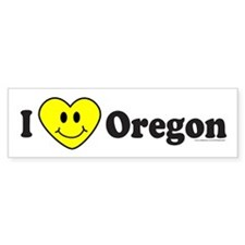 LOVE OREGON Bumper Bumper Sticker