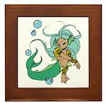 Anime Merman Framed Tile