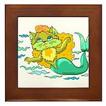 Kitty Mermaid Framed Tile